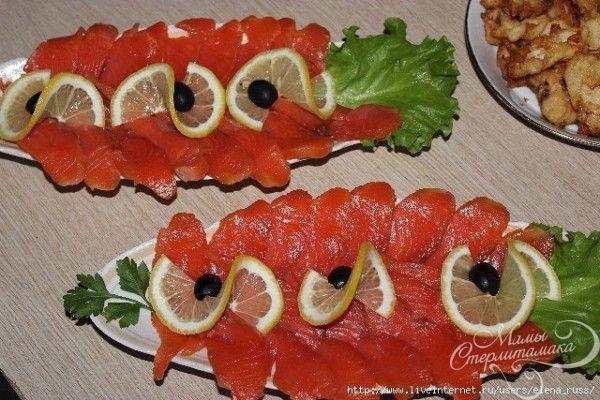 Как выложить рыбную нарезку красиво